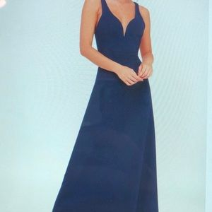 Lulus Navy Blue Gown